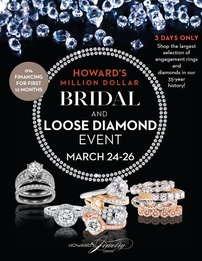 Howards Jewelers March event Mentor-mall-promo